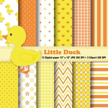 Little Duck Digital Paper & Clipart