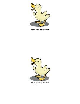 Little Duck Emergent Reader