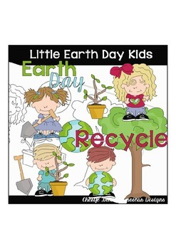 Little Earth Day Kids Clipart Collection