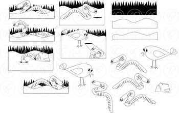 Little Earthworm Story Elements Clipart by Poppydreamz