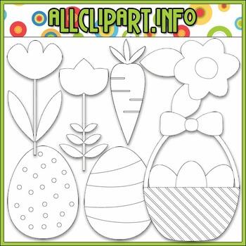 BUNDLED SET - Little Easter Accents Clip Art & Digital Stamp Bundle