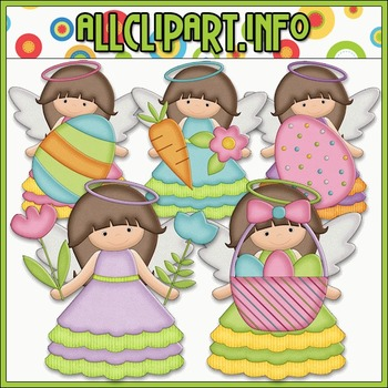 BUNDLED SET - Little Easter Angels Clip Art & Digital Stam