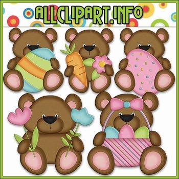 BUNDLED SET - Little Easter Bears Clip Art & Digital Stamp Bundle