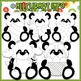 BUNDLED SET - Little Easter Panda Bears Clip Art & Digital Stamp Bundle