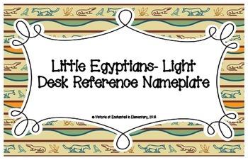 Little Egyptians- Light Desk Reference Nameplates