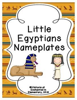 Little Egyptians Nameplates