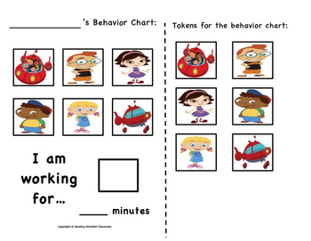 Little Einstiens Token Behavior Chart!