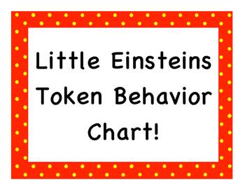Little Einstiens Token Behavior Chart!