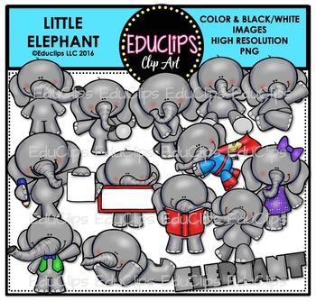 Little Elephants Clip Art Bundle {Educlips Clipart}