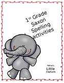 Little Elephants Saxon Phonics Spelling Activities 1-5