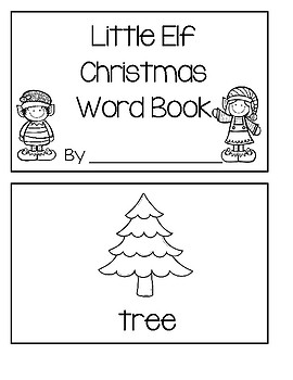 Little Elf Christmas Word Book