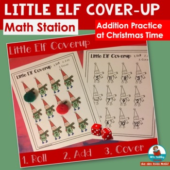 Little Elf Cover Up - Addition Practice - Math Practice