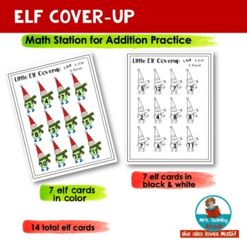 Little Elf Cover Up | Addition Practice | Math Practice