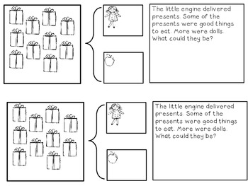 Little Engine Math Journals More and Less