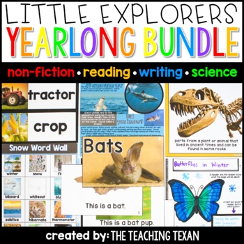Little Explorers Non-Fiction Yearlong Bundle