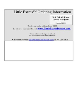 Little Extras Die Cuts - Teaching With Die Cuts