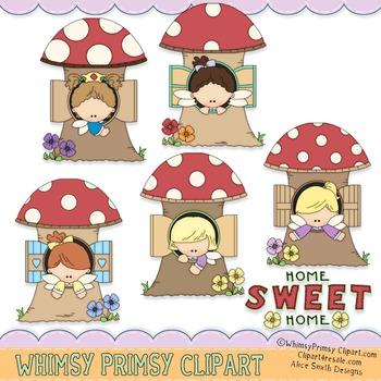Little Fairy Houses - Color 1