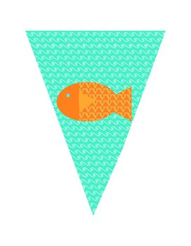 Little Fishes Classroom Pennant Banner