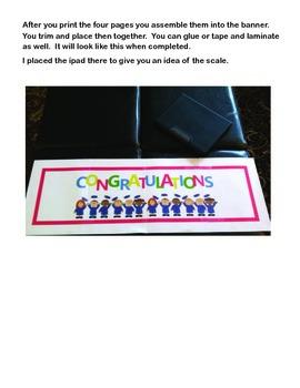 End of the Year -PreK-2-Little Folk Graduation Banner