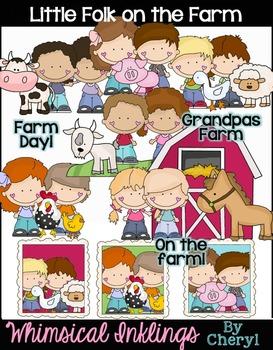 Little Folk On the Farm Clipart Collection