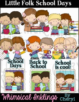 Little Folks School Days Clipart Collection