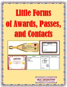 Little Forms of Awards, Passes and Contacts