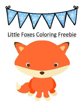 Little Fox Trace & Coloring Sheets Freebie