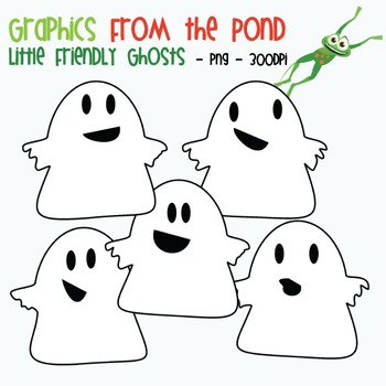 Little Friendly Ghosts - Clipart for Teaching