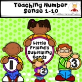 Little Friend's Subitizing Cards for Teaching Number Sense 1-10