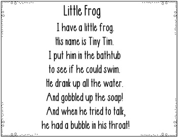 Little Frog (Pocket Chart Activity)