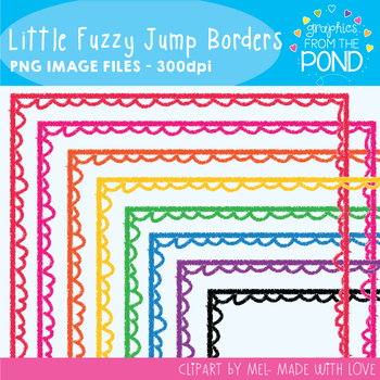 Little Fuzzy Jump Borders - Graphics From the Pond