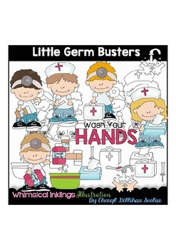 Little Germ Busters Clipart Collection