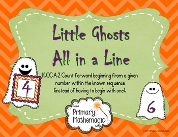 Little Ghosts All in a Line:  Counting on from a Number