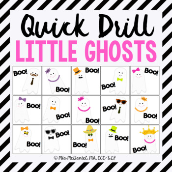 "Little Ghosts ""Boo"" Quick Drill {for articulation or fluency therapy & RTi}"