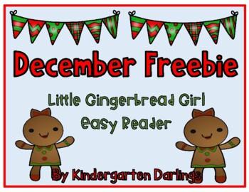 Little Gingerbread Girl Easy Reader Freebie