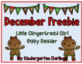Little Gingerbread Girl Easy Reader Freebie