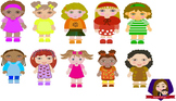Modified Lessons Clipart of Little Girls