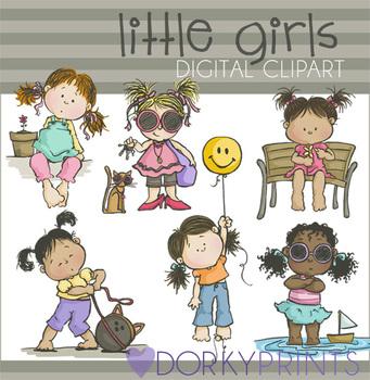Little Girls Digital Clip Art Images
