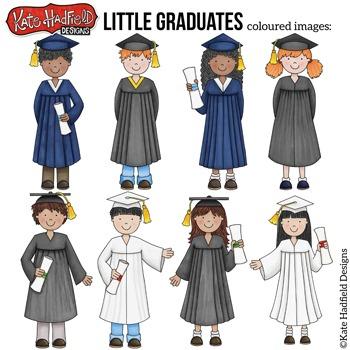 "Graduation Kids Clip Art: ""Little Graduates"""