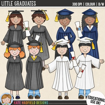 "Graduation Kids Clip Art: ""Little Graduates"""