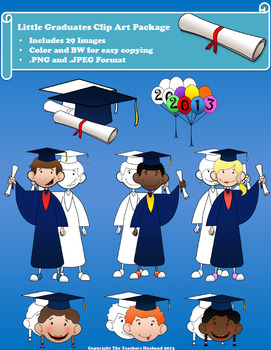 Little Graduates - Graduation 2013 Clip Art