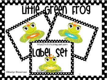 Little Green Frog Editable Label Set