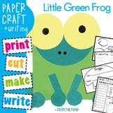 Little Green Frog Paper Craft - Teaching Kindergarten Visual Arts