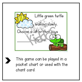 Little Green Turtle Alphabet Recognition Game