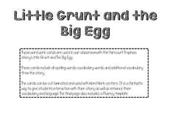 Little Grunt and the Big Egg Fluency Cards