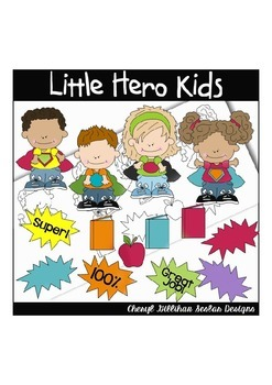 Little Hero Kids Clipart Collection