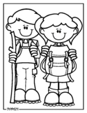 Little Hikers Coloring Page