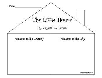Little House Graphic Organizer