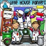 Little House Painters Clip Art - Chirp Graphics
