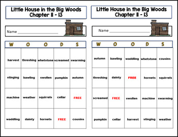 Little House in the Big Woods Activity/Game